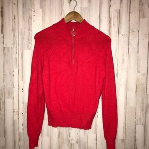 Forever 21 | Red half zip sweater